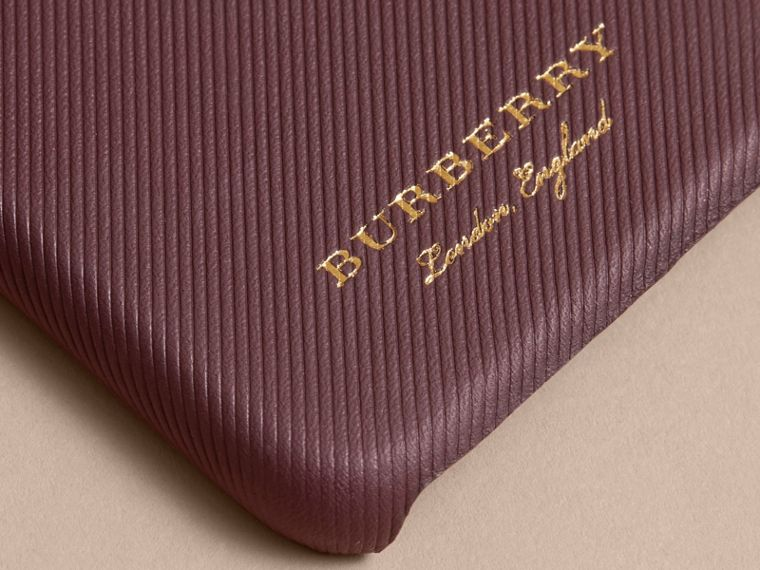 Trench Leather iPhone 7 Case in Wine | Burberry - cell image 1
