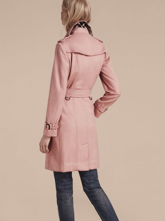 Sandringham Fit Cashmere Trench Coat Chalk Pink - cell image 2