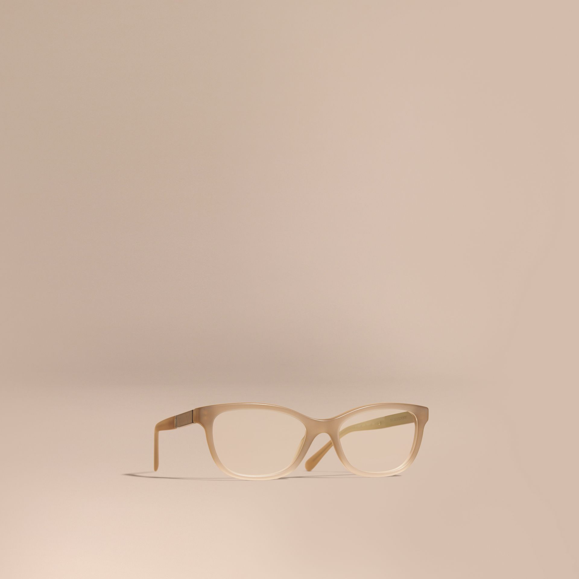 Chino grey Check Detail Oval Optical Frames Chino Grey - gallery image 1