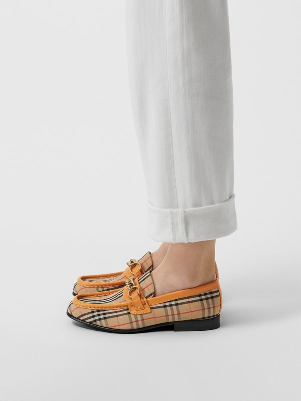 The 1983 Check Link Loafer in Yellow Barley - Women | Burberry - cell image 2