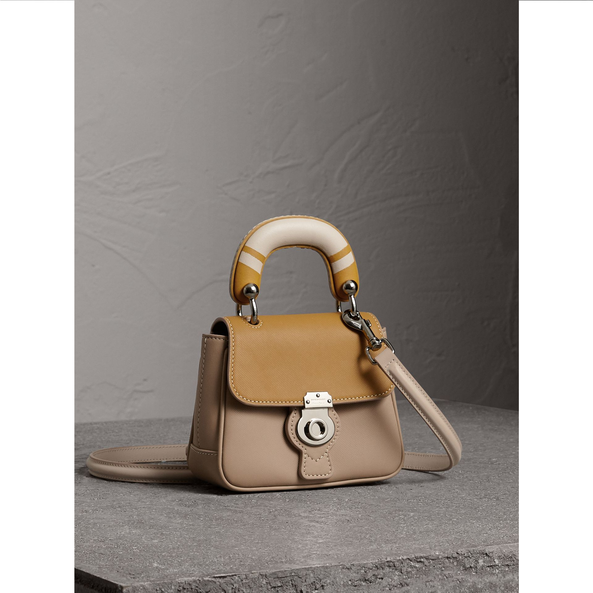 The Mini DK88 Top Handle Bag with Geometric Print in Honey/ochre Yellow - Women | Burberry - gallery image 7