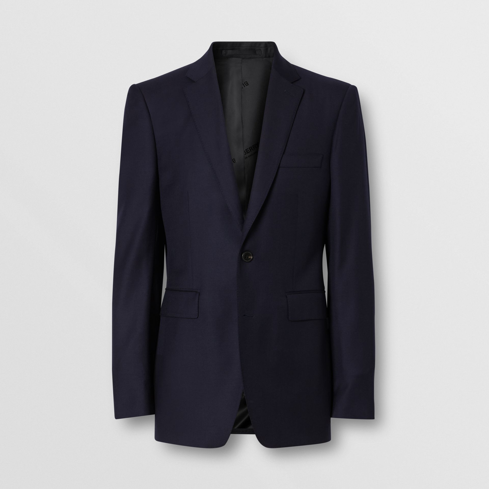 Classic Fit Wool Suit in Navy - Men | Burberry United Kingdom - gallery image 3