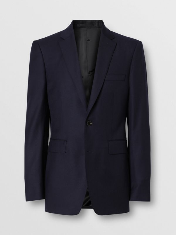 Classic Fit Wool Suit in Navy - Men | Burberry United Kingdom - cell image 3