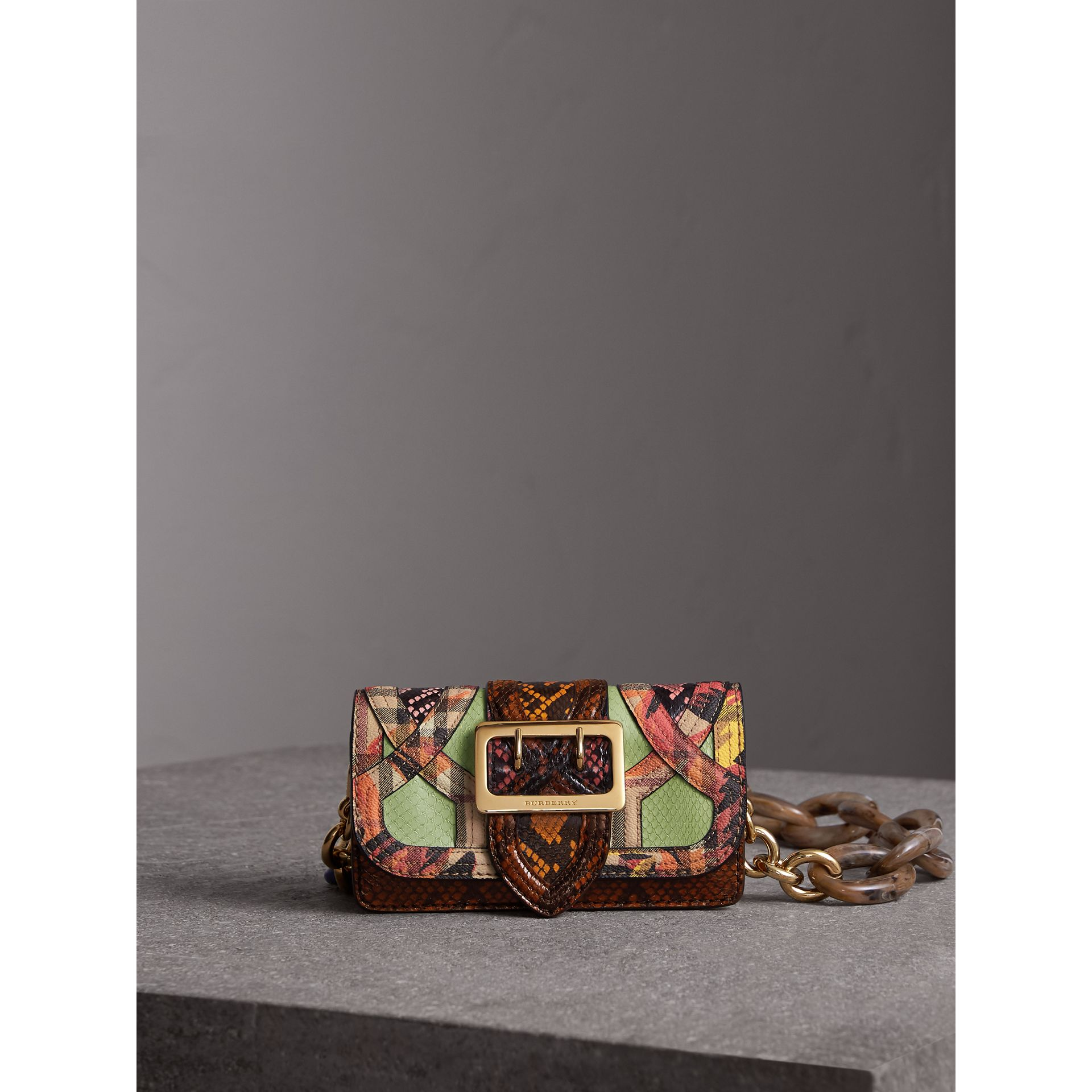 The Small Buckle Bag in Snakeskin and Floral Print - Women | Burberry - gallery image 1