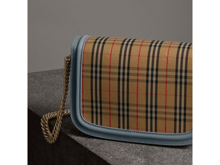 The 1983 Check Link Bag with Patent Trim in Blue Sage - Women | Burberry Canada - cell image 4