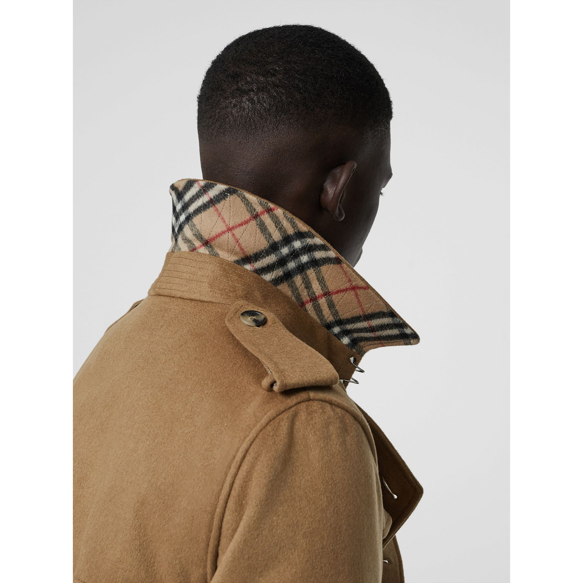 Cashmere Trench Coat in Camel - Men | Burberry Australia - gallery image 1