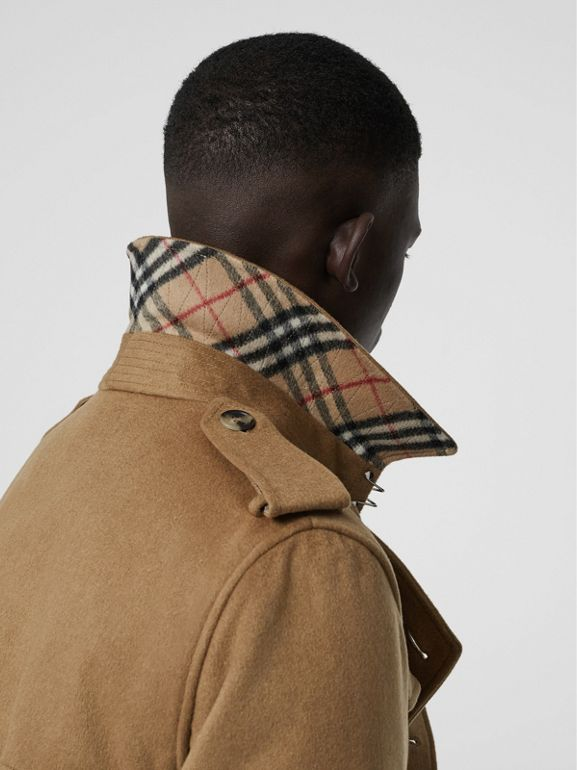 Cashmere Trench Coat in Camel - Men | Burberry Australia - cell image 1