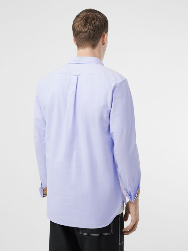 Button-down Collar Cotton Oxford Shirt in Cornflower Blue - Men | Burberry - cell image 2