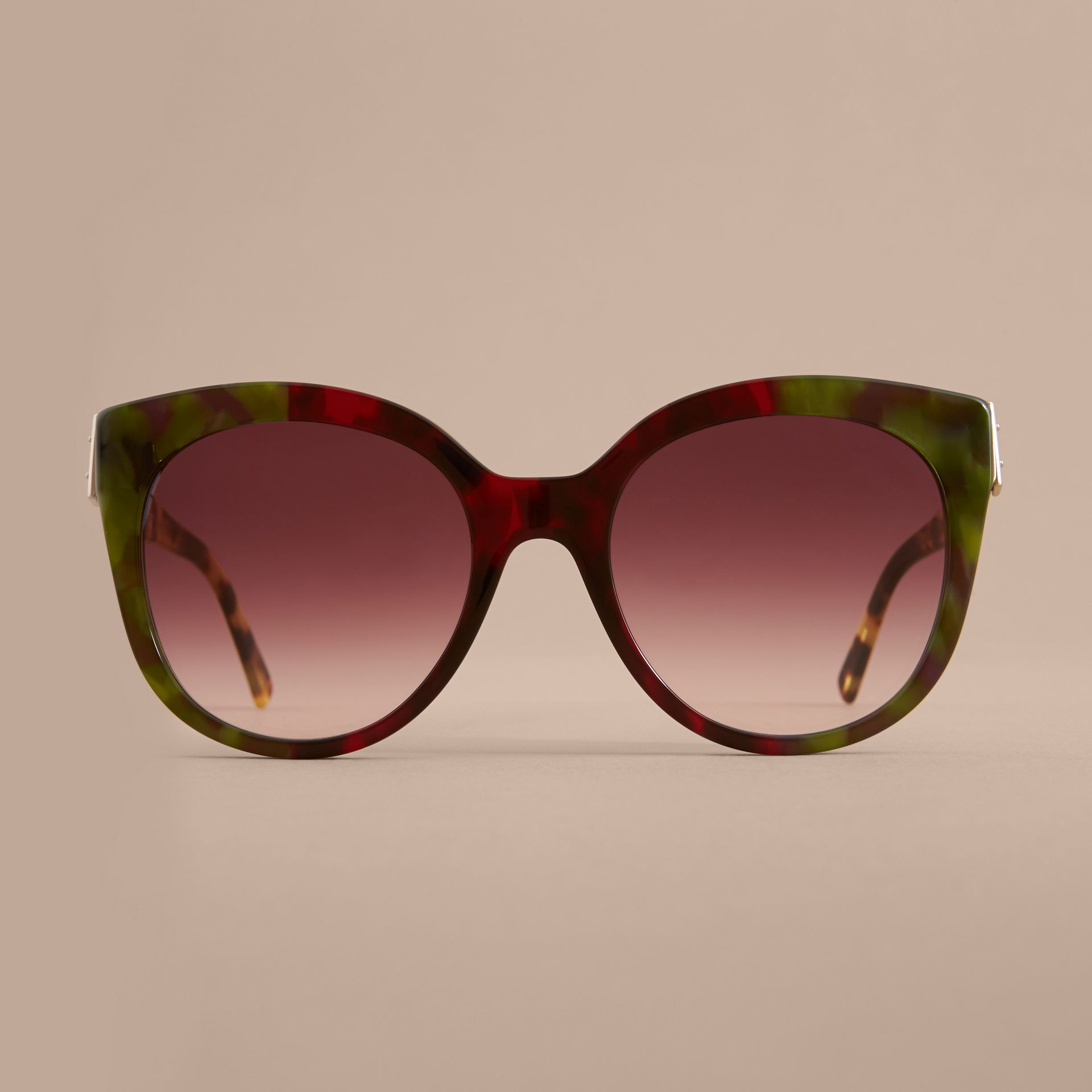 Buckle Detail Cat-eye Frame Sunglasses Cardinal Red - gallery image 3