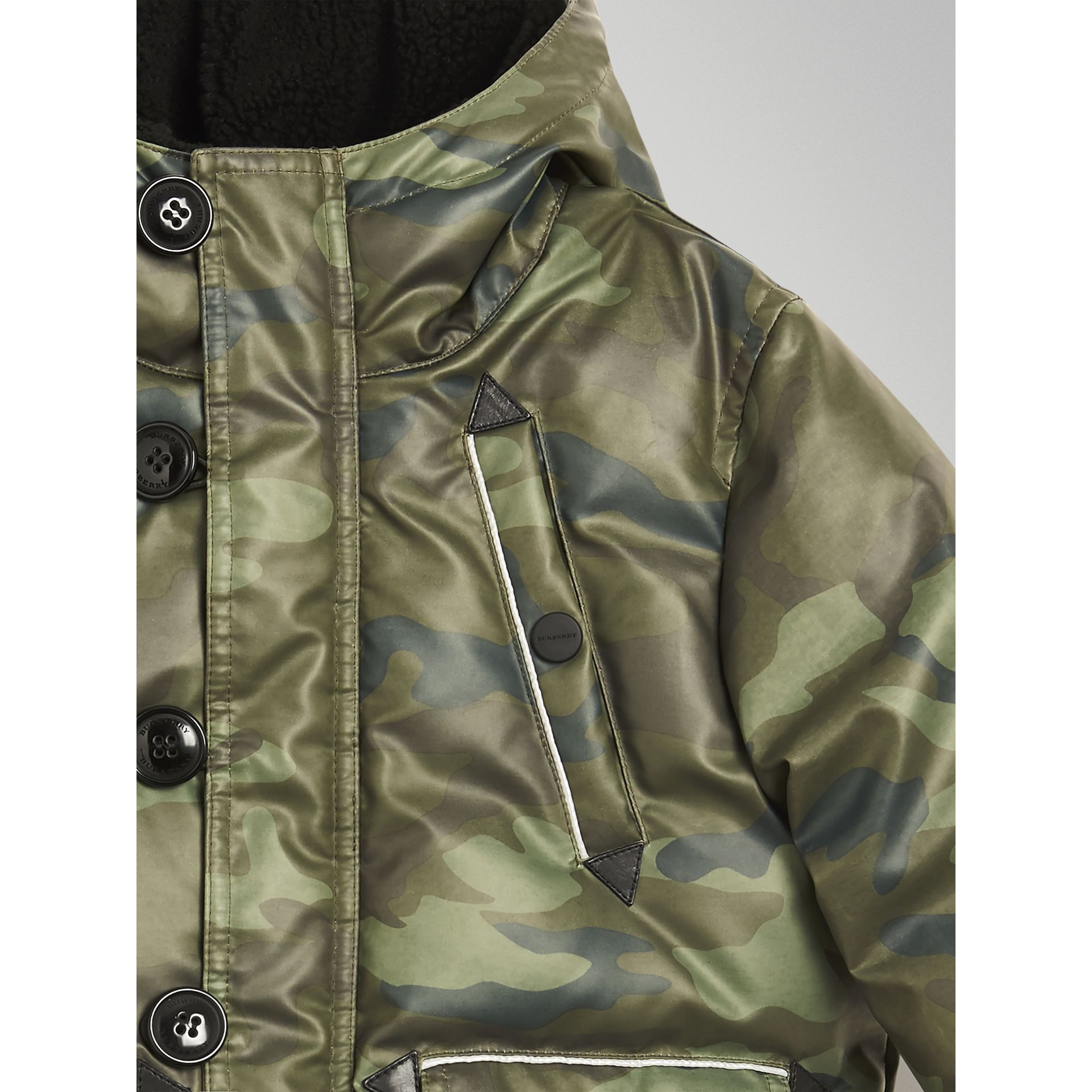 Camouflage Print Down-filled Puffer Jacket in Khaki | Burberry - gallery image 3
