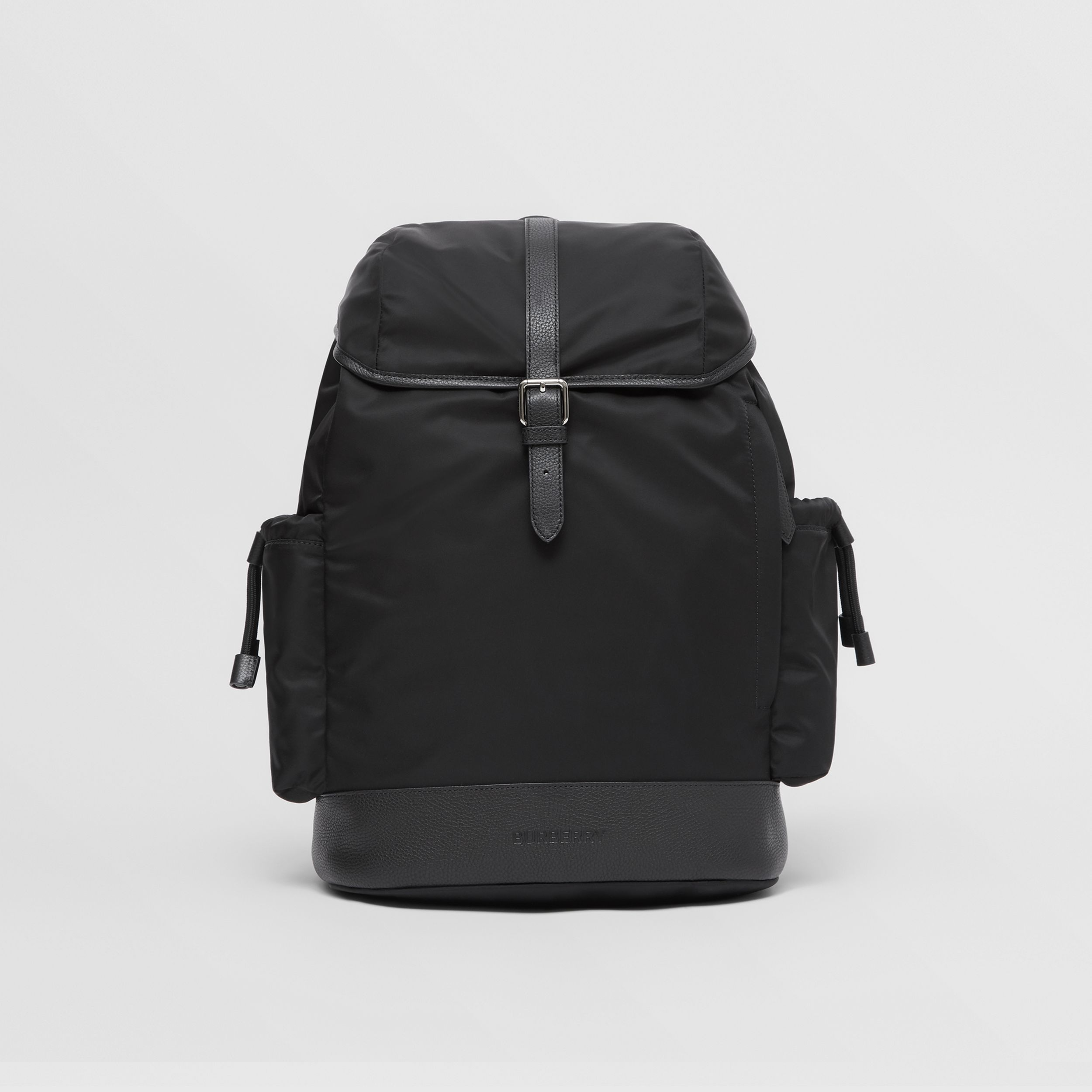 Leather Trim Nylon Baby Changing Backpack in Black - Children | Burberry - 1