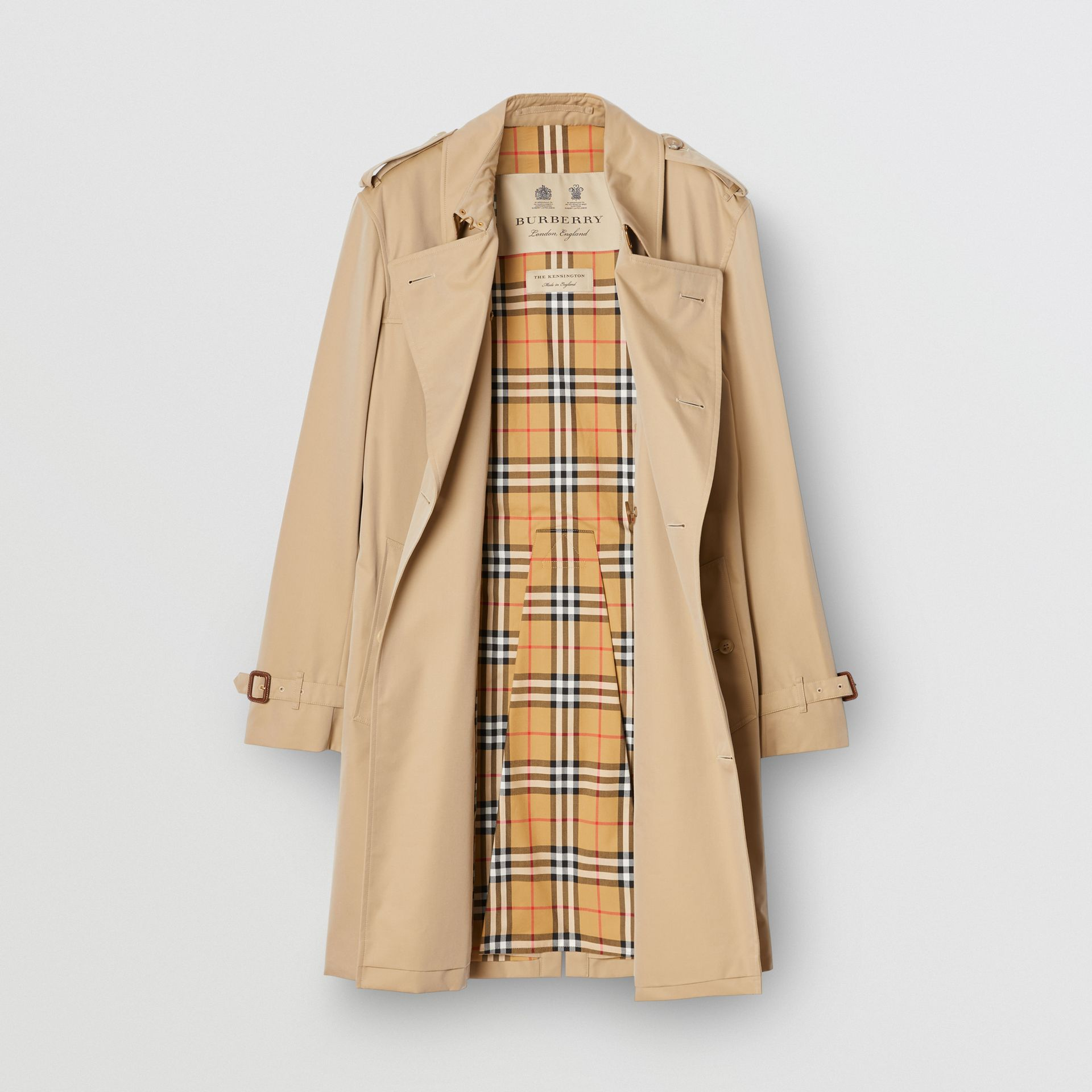 The Mid-length Kensington Heritage Trench Coat in Honey - Men | Burberry Singapore - gallery image 8