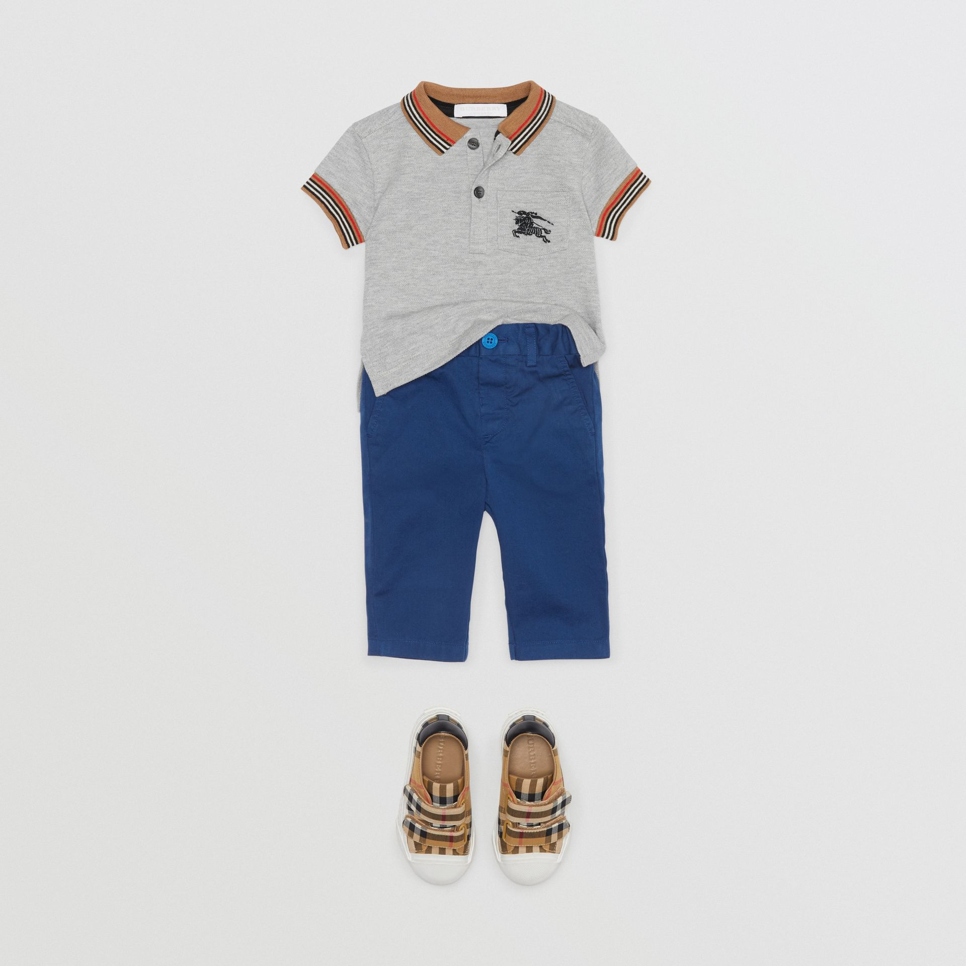 Cotton Chinos in Bright Navy - Children | Burberry - gallery image 2