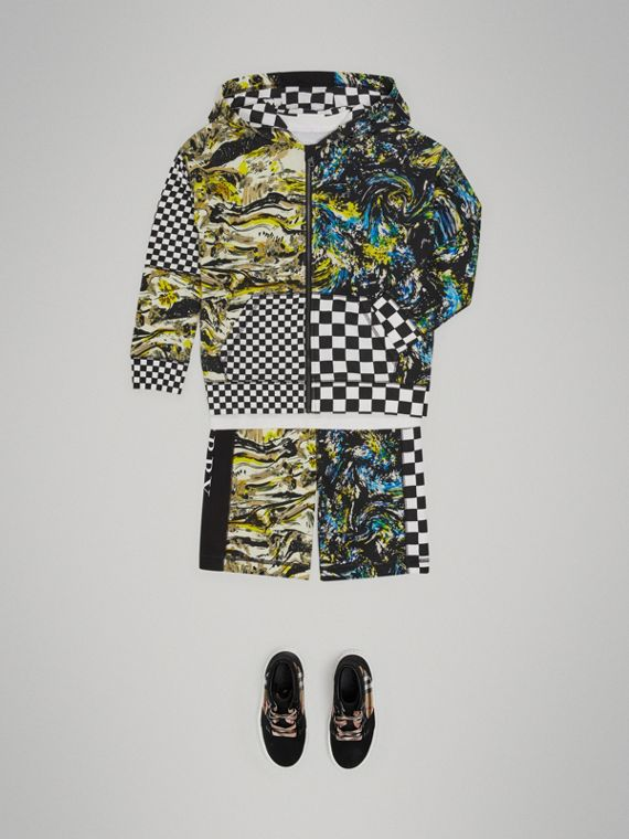 Sudadera en algodón con capucha y estampado gráfico (Colores Variados)