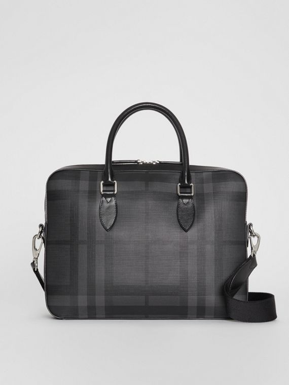 Pasta Barrow slim com estampa London Check (Grafite/preto)