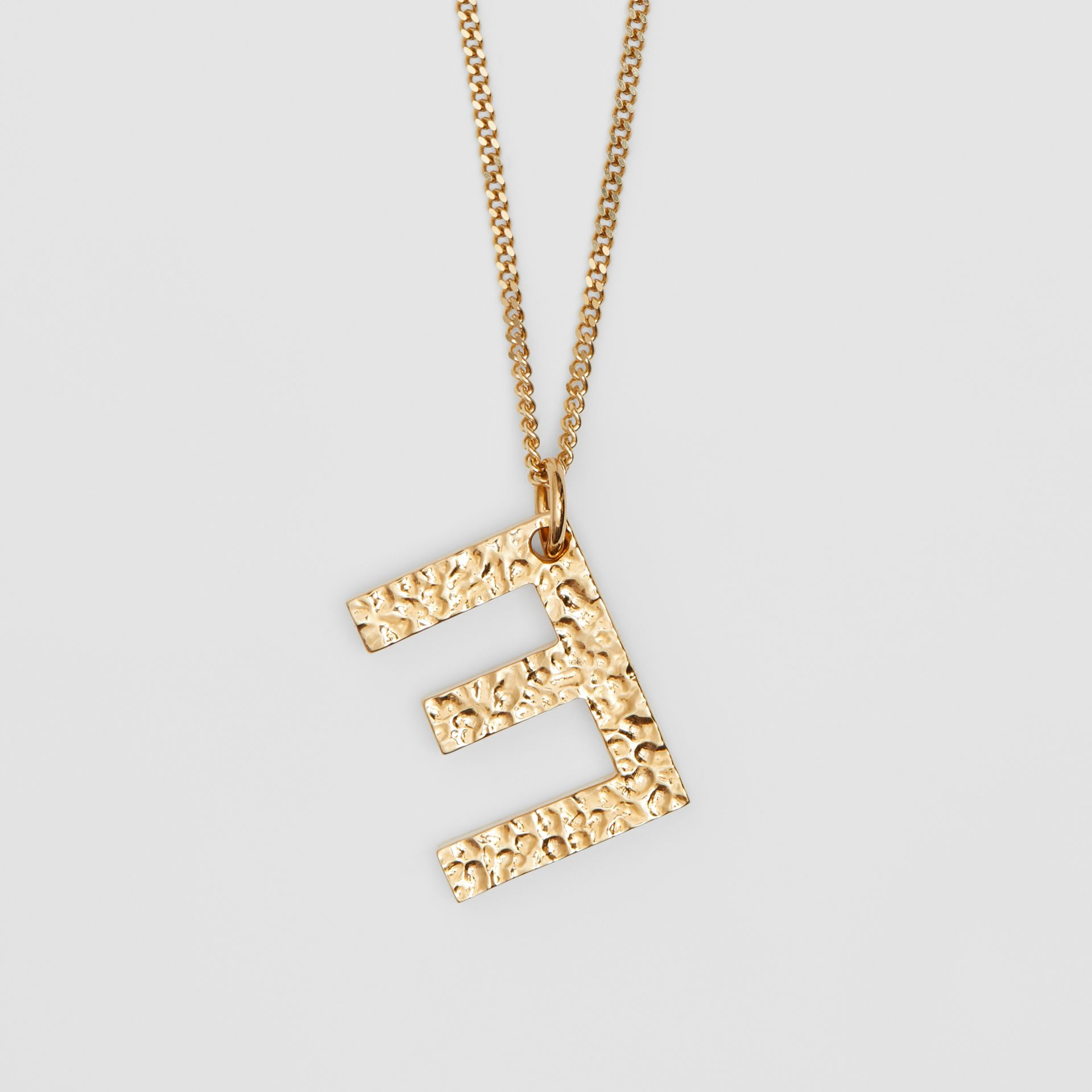 'E' Alphabet Charm Gold-plated Necklace in Light - Women | Burberry United Kingdom - gallery image 2