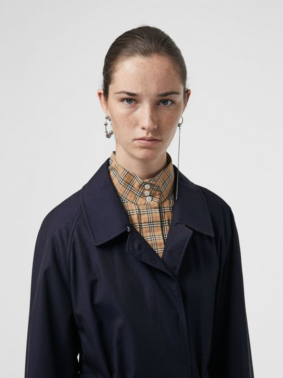 The Brighton Car Coat (Blu Carbonio) - Donna | Burberry - cell image 1