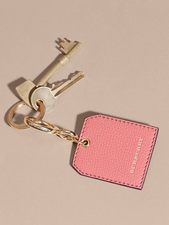 Grainy Leather Key Charm in Copper Pink - Women | Burberry - cell image 2