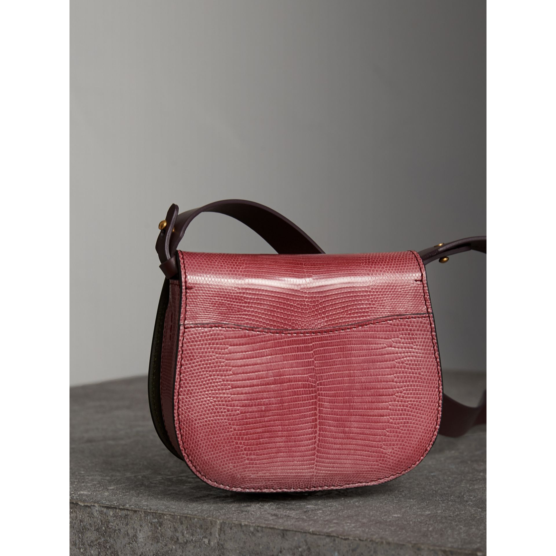 The Satchel in Lizard in Pink Azalea - Women | Burberry United Kingdom - gallery image 4