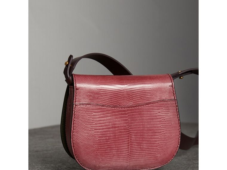 The Satchel in pelle di lucertola (Rosa Azalea) - Donna | Burberry - cell image 4