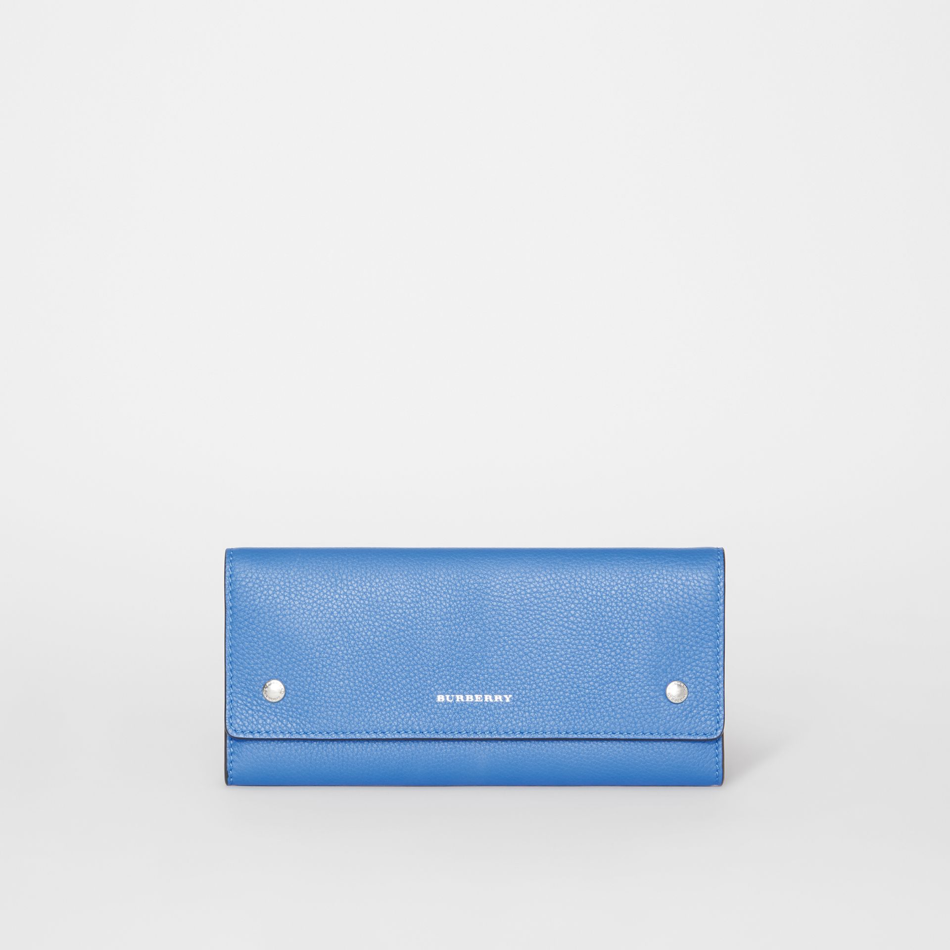 Leather Continental Wallet in Hydrangea Blue - Women | Burberry Australia - gallery image 0
