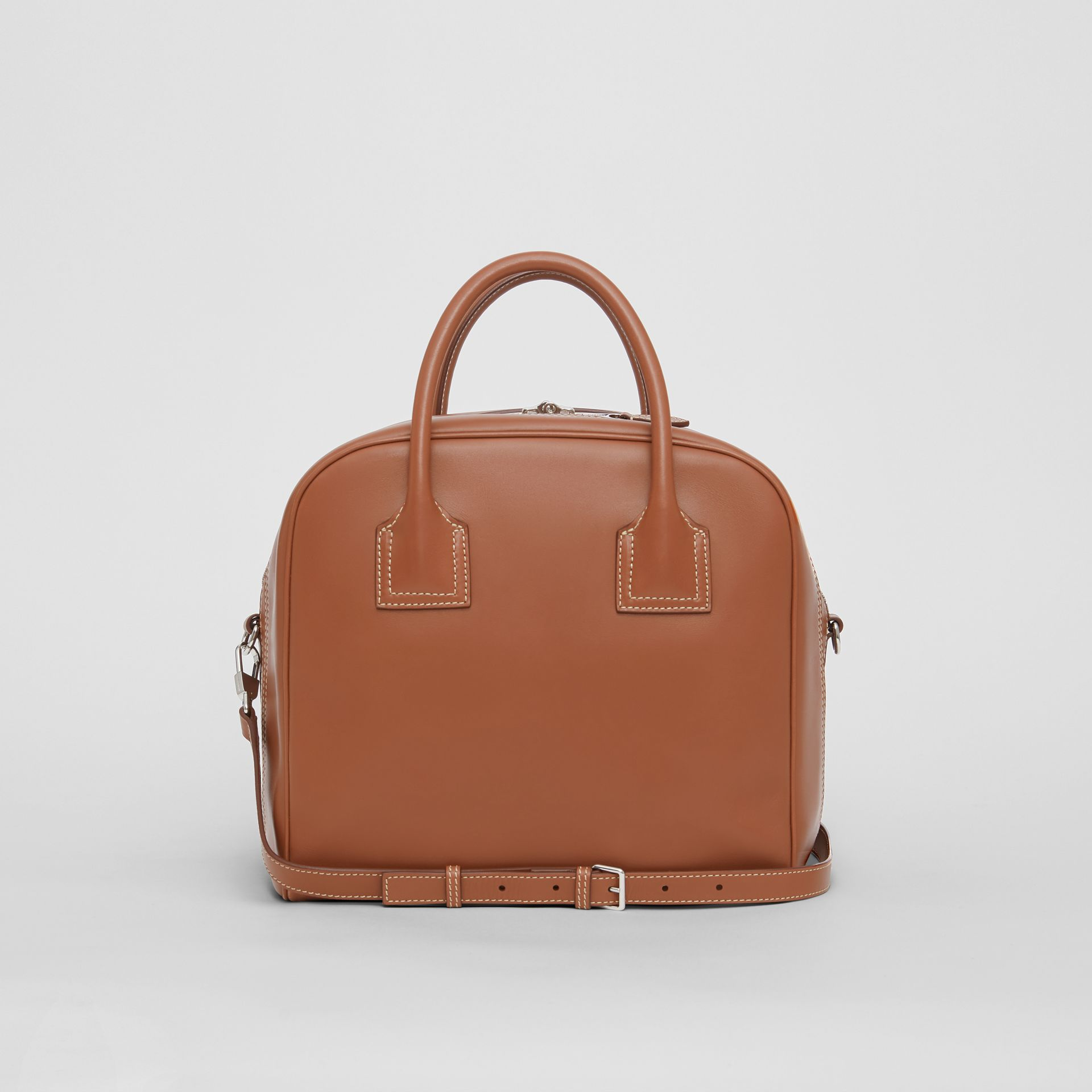 Medium Leather Cube Bag in Malt Brown - Women | Burberry - gallery image 7