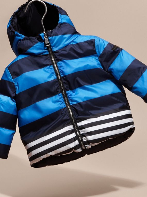Ink blue Reversible Down-filled Puffer Coat - cell image 2