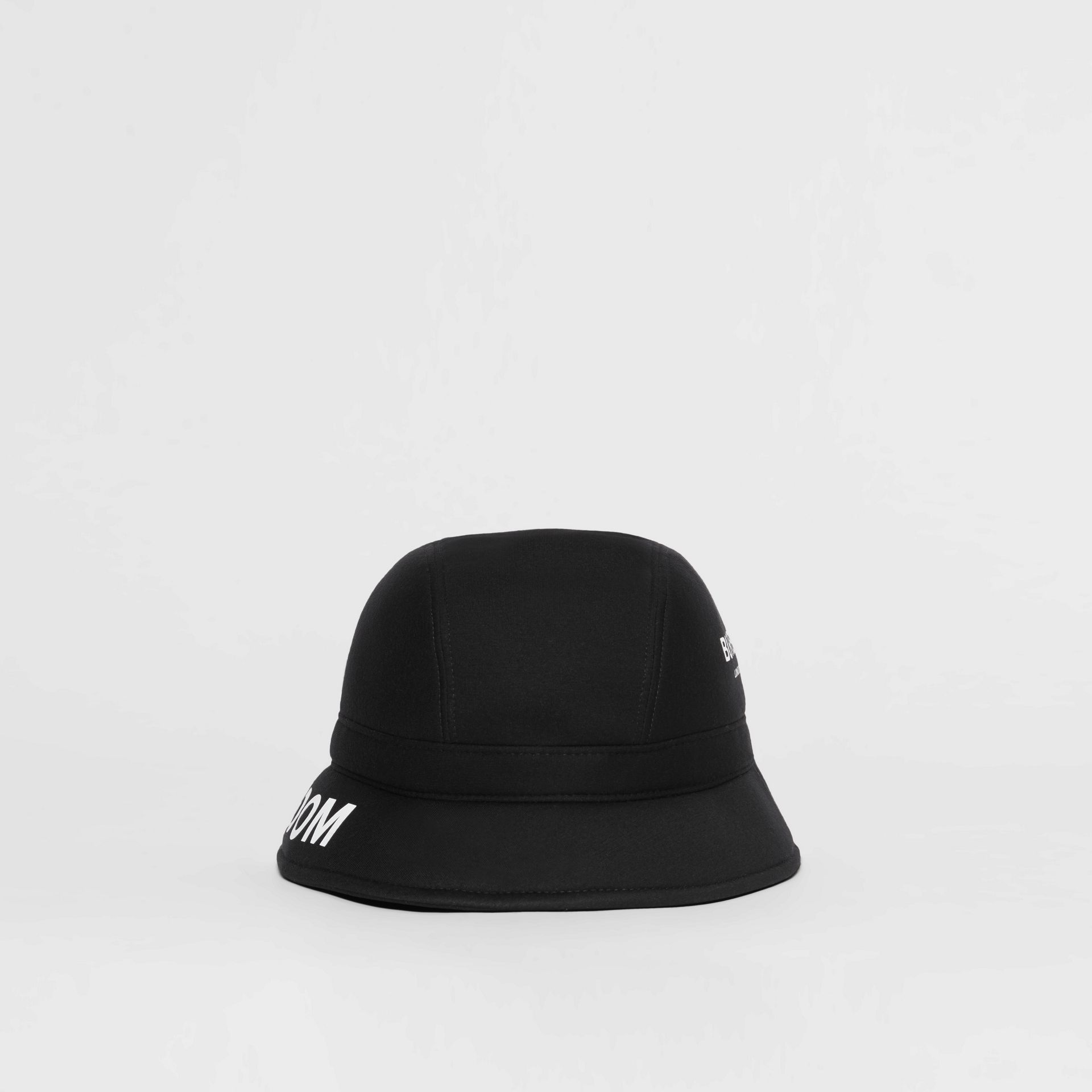 Kingdom Print Neoprene Bucket Hat in Black | Burberry - gallery image 4