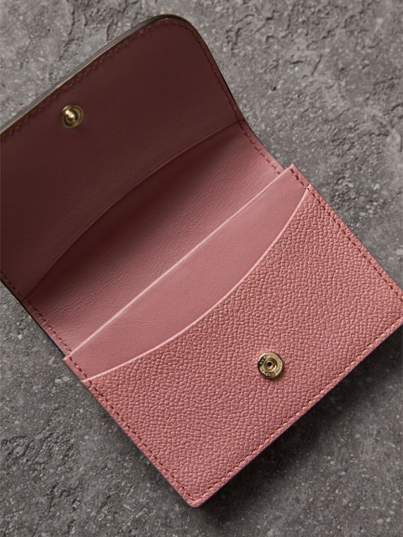Grainy Leather Card Case in Dusty Pink - Women | Burberry - cell image 3