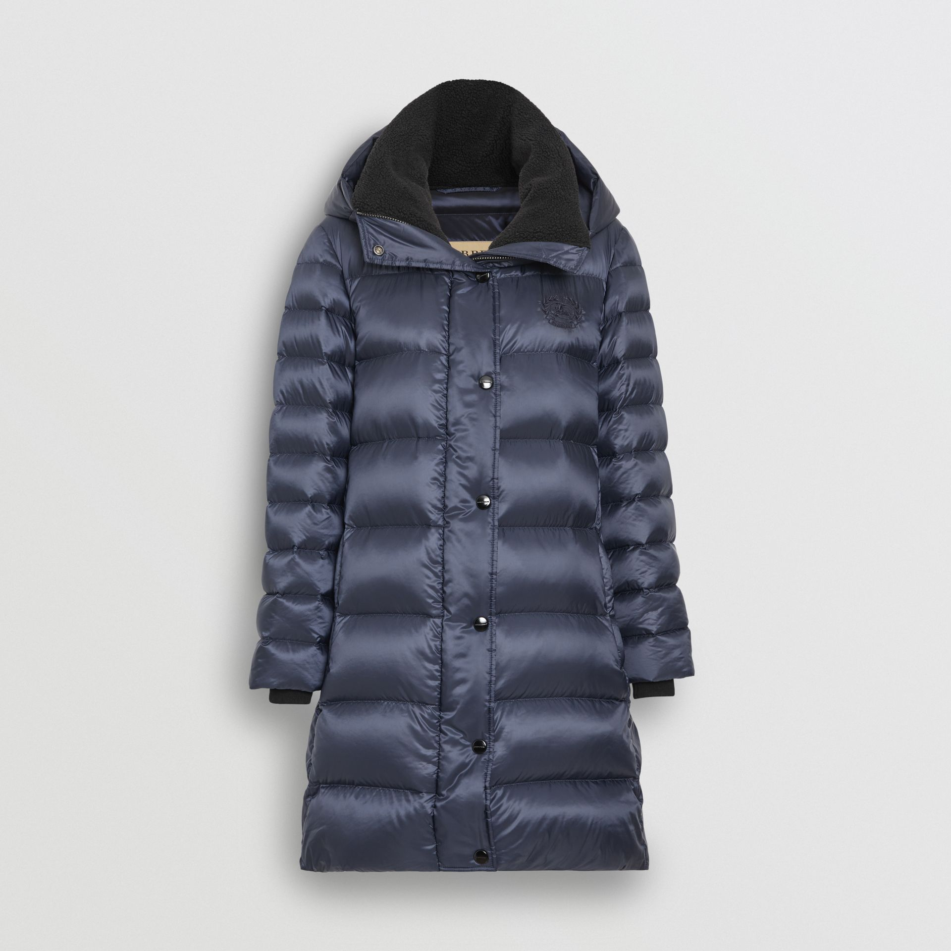 Down-filled Hooded Puffer Coat in Navy - Women | Burberry - gallery image 3