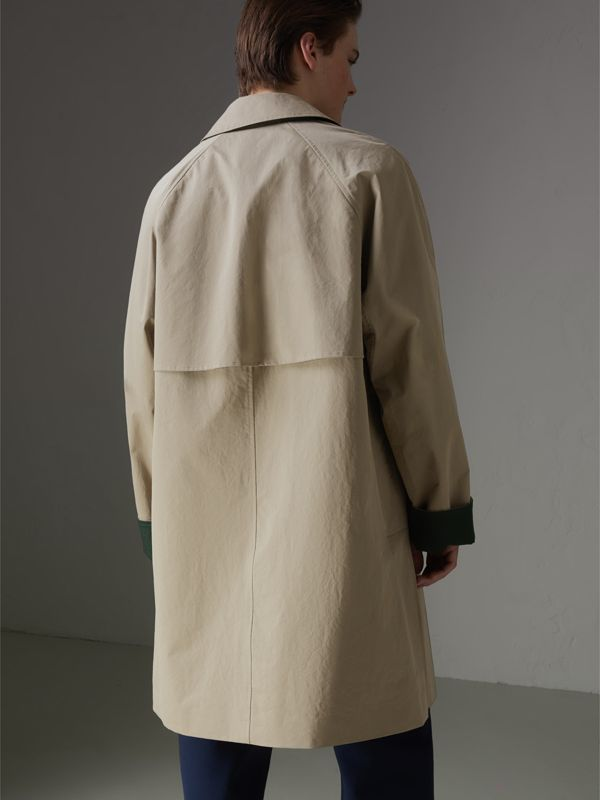 Reissued Waxed Cotton Gabardine Car Coat in Khaki - Men | Burberry Australia - cell image 2