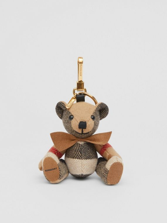 Thomas Bear Charm with Bow Tie in Archive Beige