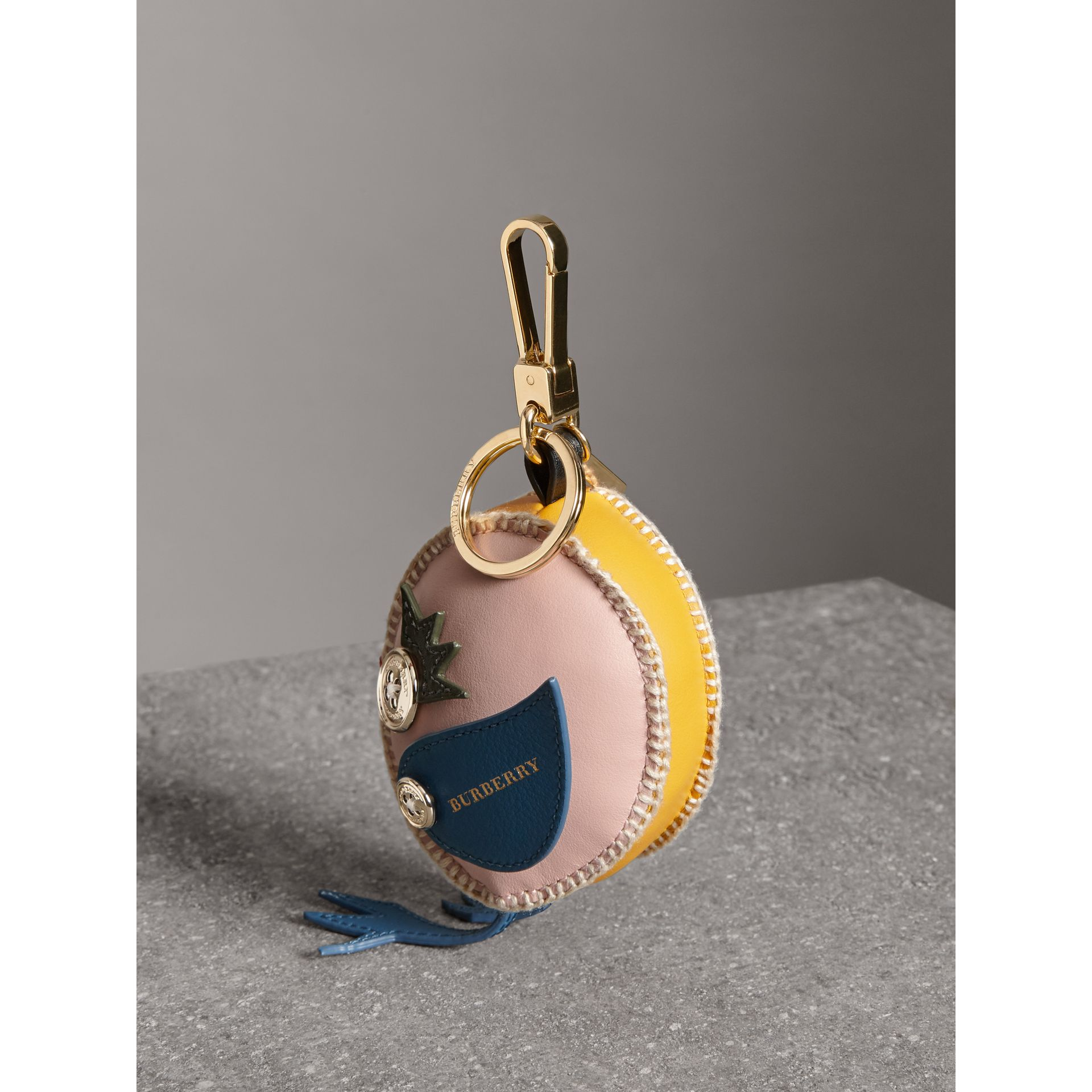 Derek The Bird Leather Charm in Larch Yellow - Women | Burberry - gallery image 3