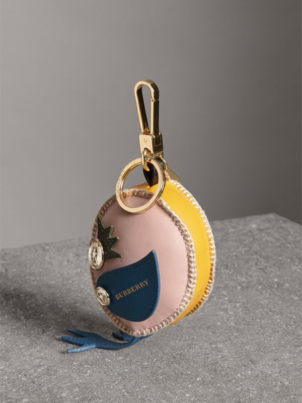Derek The Bird Leather Charm in Larch Yellow - Women | Burberry Australia - cell image 3