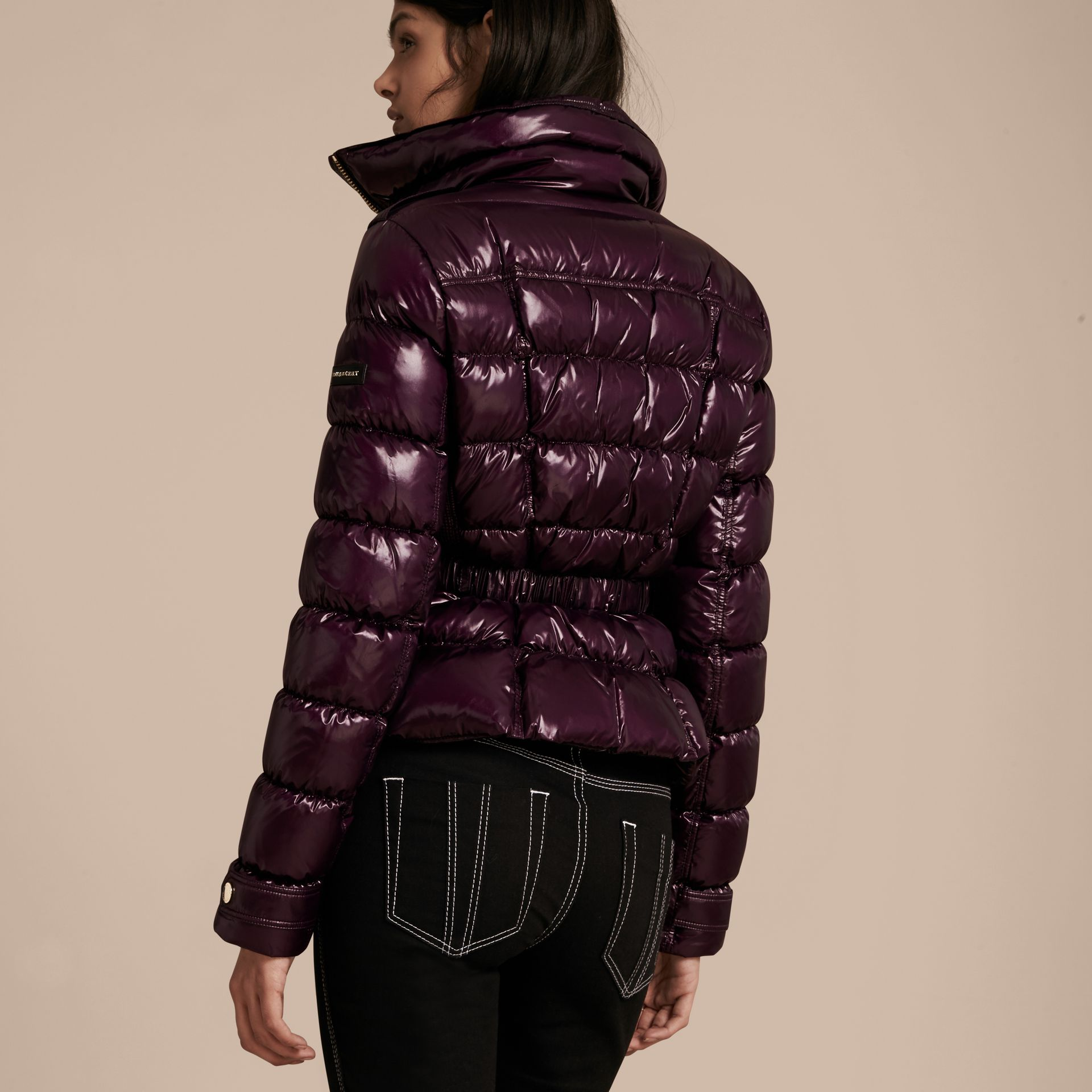Dark elderberry Lightweight Down-filled Jacket - gallery image 3