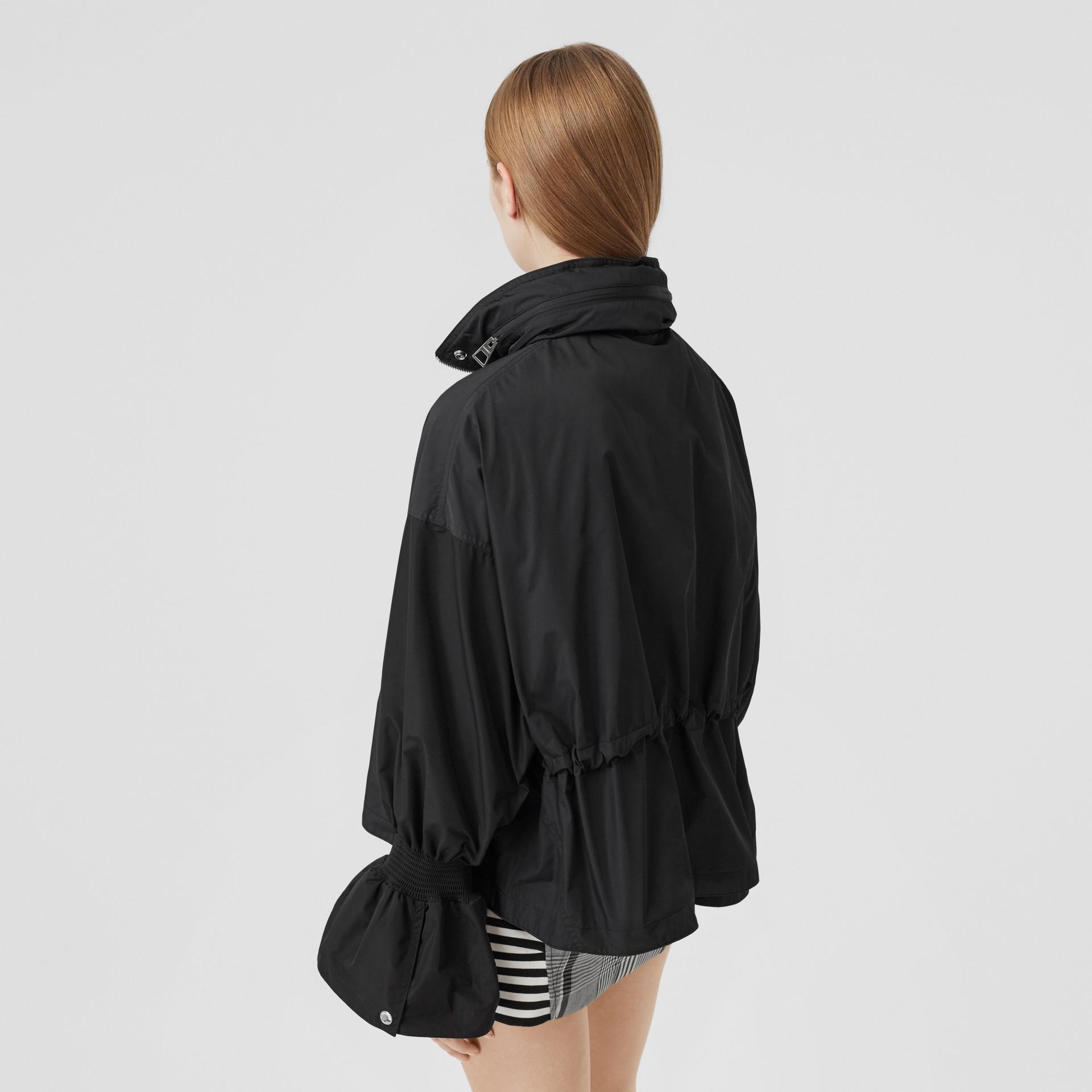 Packaway Hood Bio-based Nylon Jacket in Black - Women | Burberry - gallery image 2