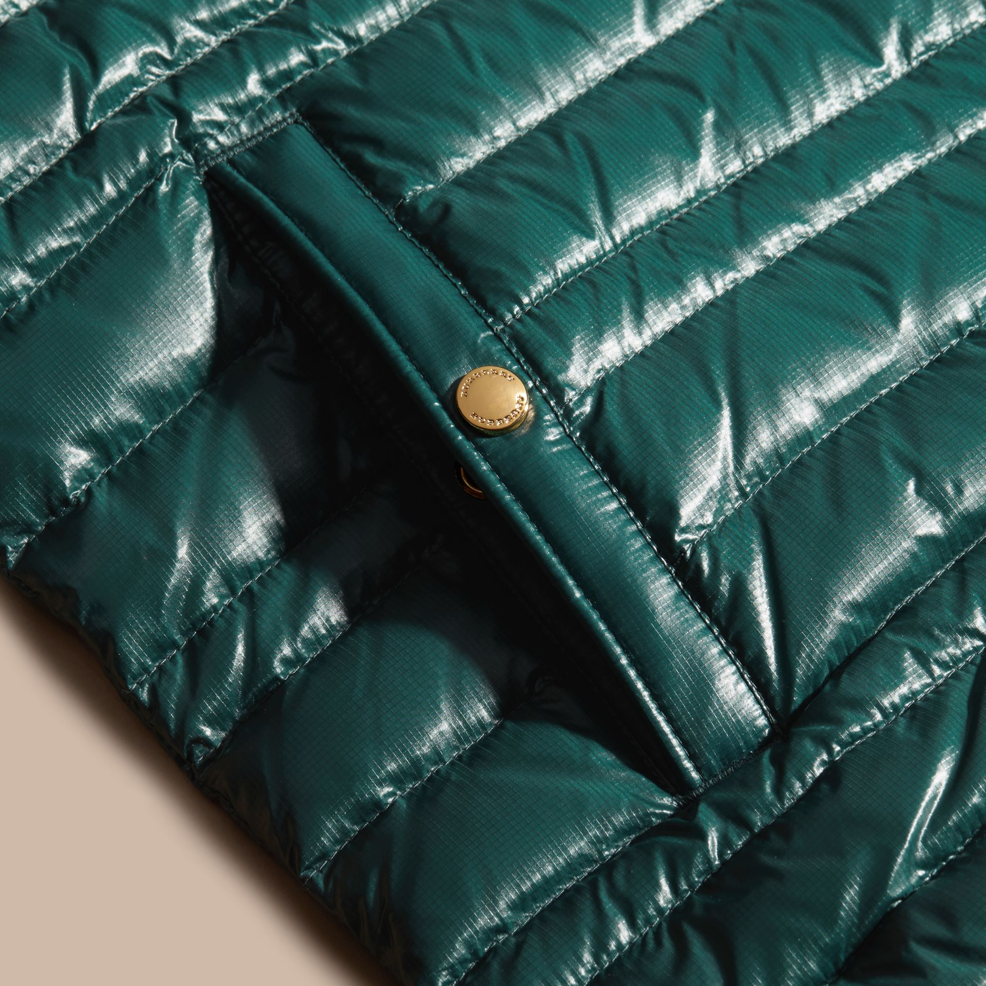 Pine green Lightweight Down-filled Gilet Pine Green - gallery image 2
