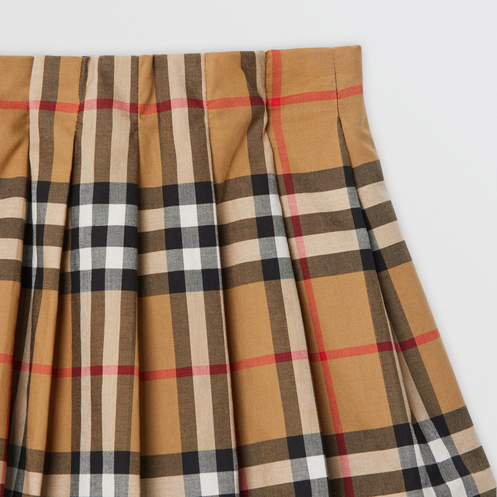 Vintage Check Pleated Skirt in Antique Yellow - Children | Burberry - gallery image 4