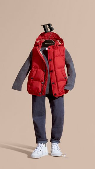 Down-filled Hooded Gilet