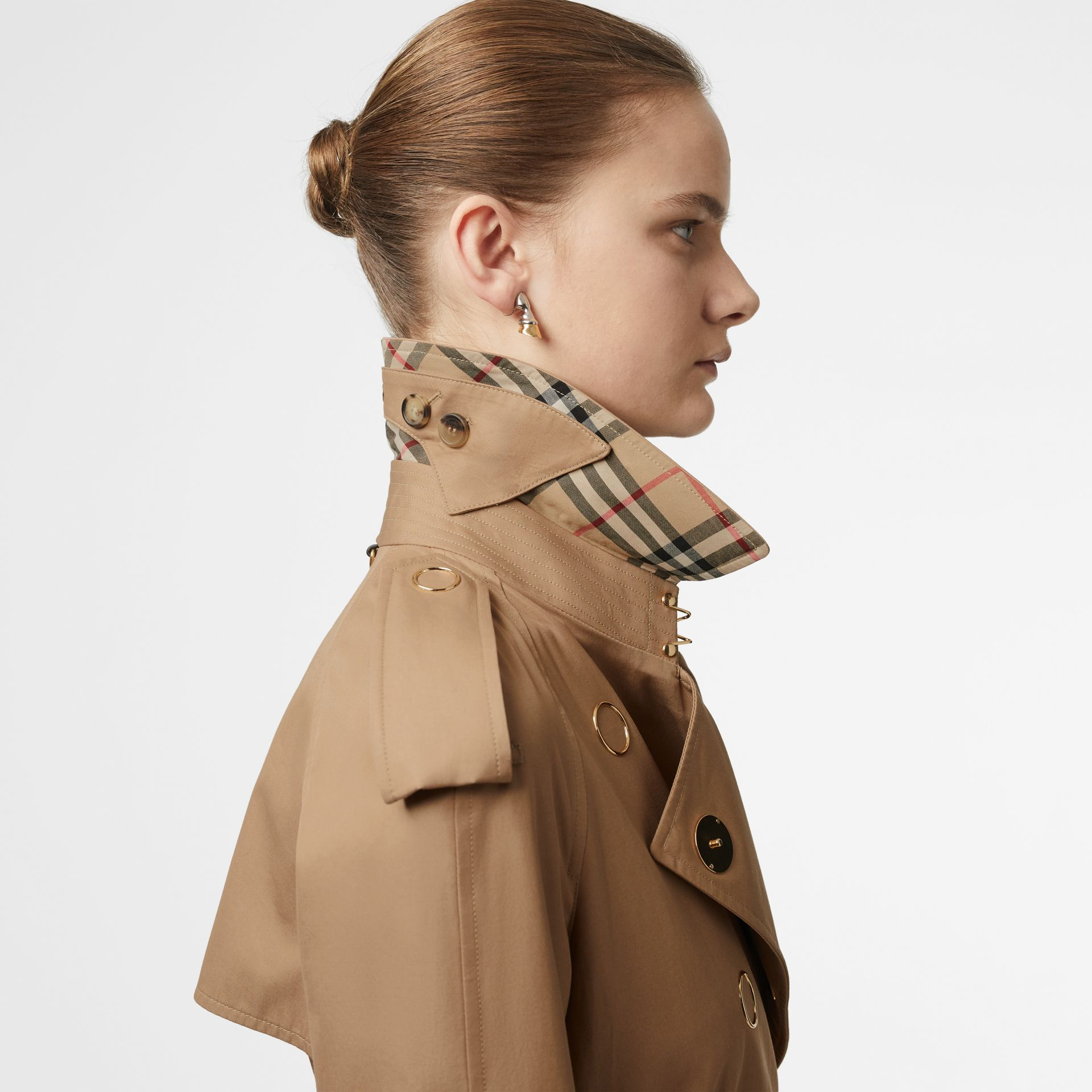 Press-stud Detail Cotton Gabardine Trench Coat in Driftwood - Women | Burberry Singapore - gallery image 5