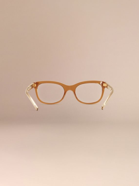 Check Detail Oval Optical Frames Taupe Brown - cell image 3