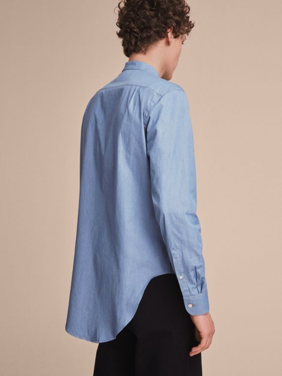 Grandad Collar Denim Shirt - cell image 2