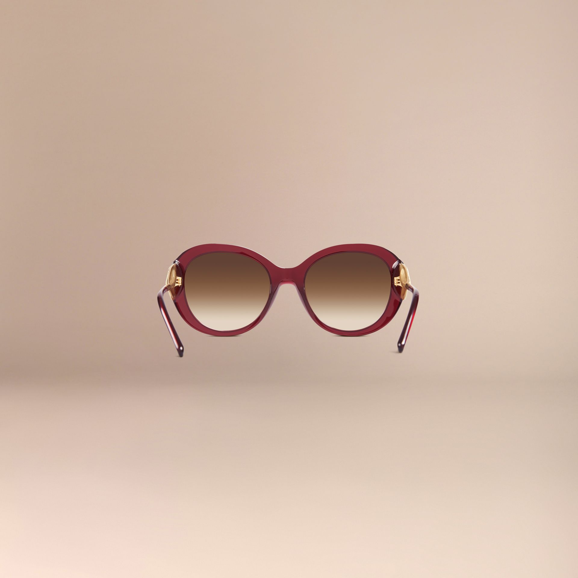 Oxblood Oversize Round Frame Sunglasses Oxblood - gallery image 4