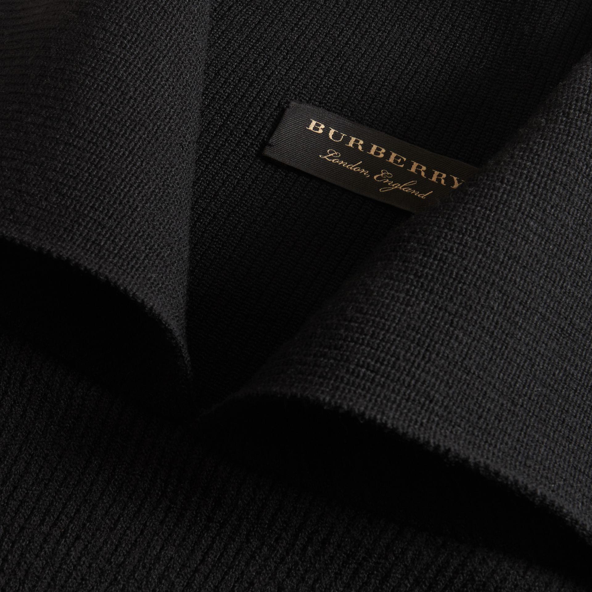 Rib Knit Compact Wool Blend Sculptural Sweater - Men | Burberry - gallery image 2