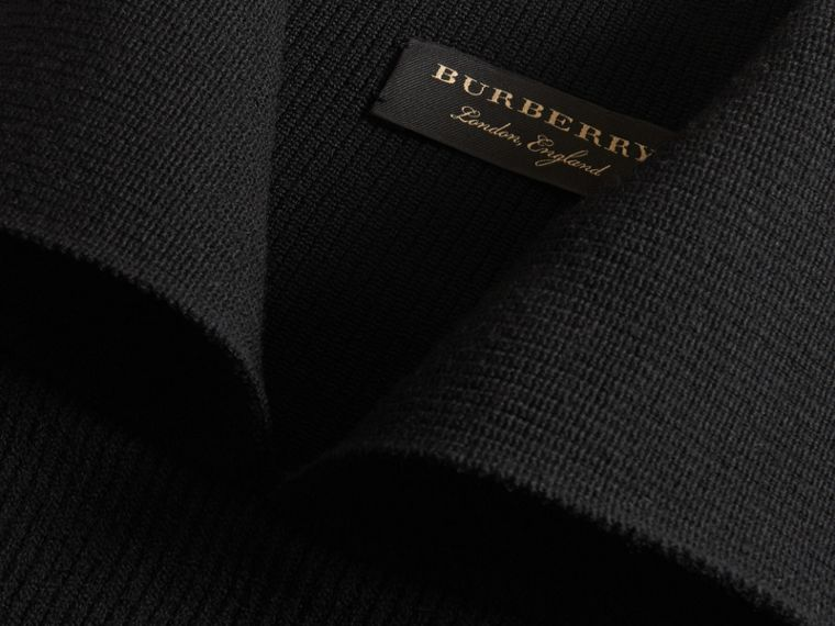 Rib Knit Compact Wool Blend Sculptural Sweater - Men | Burberry Australia - cell image 1