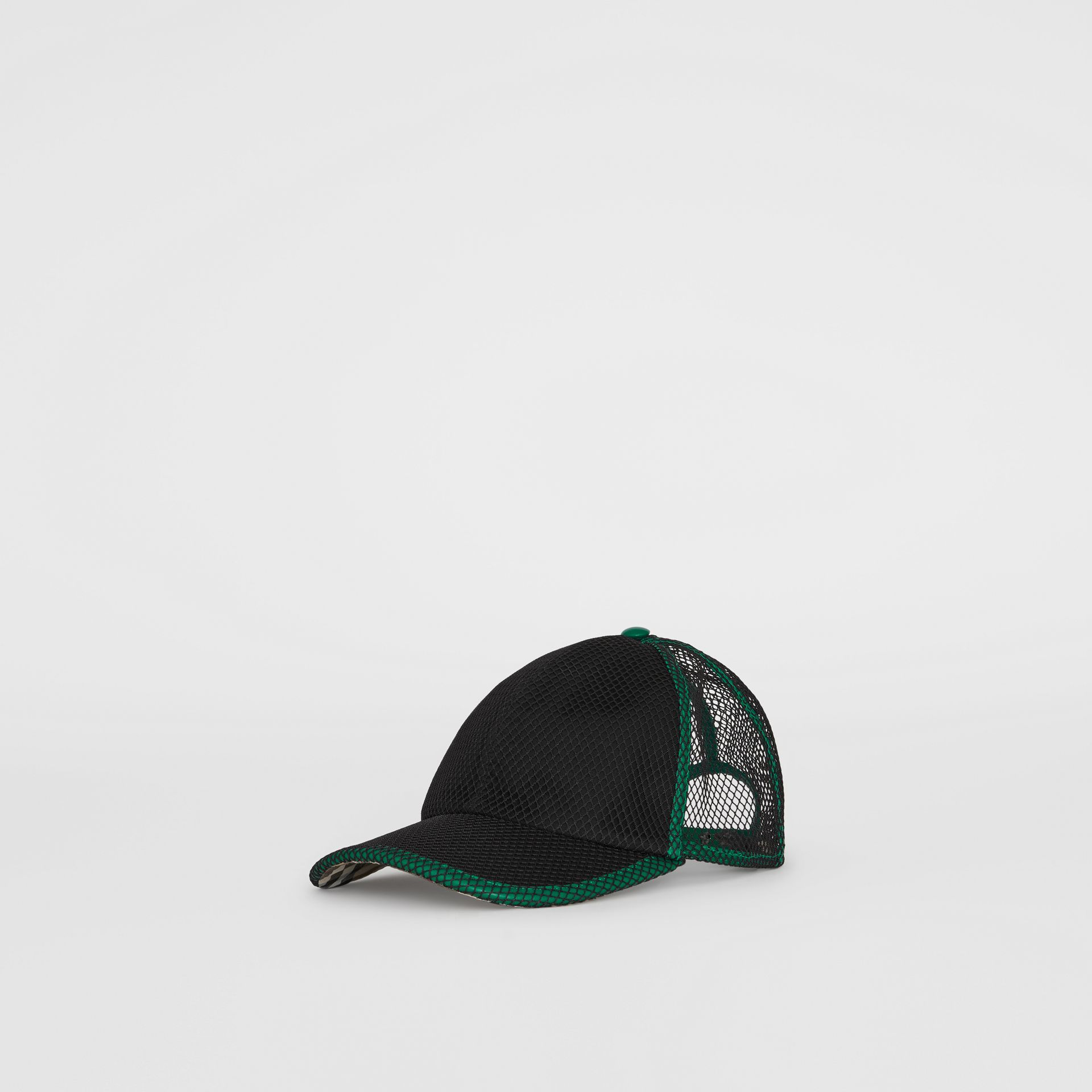 Vintage Check and Mesh Baseball Cap in Black | Burberry Australia - gallery image 5
