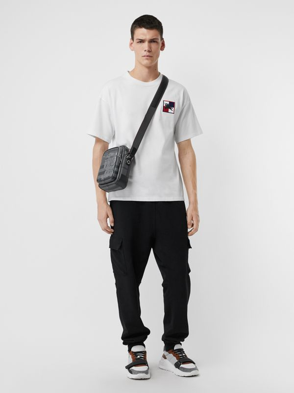 Small EKD London Check Crossbody Bag in Charcoal/black - Men | Burberry United Kingdom - cell image 2