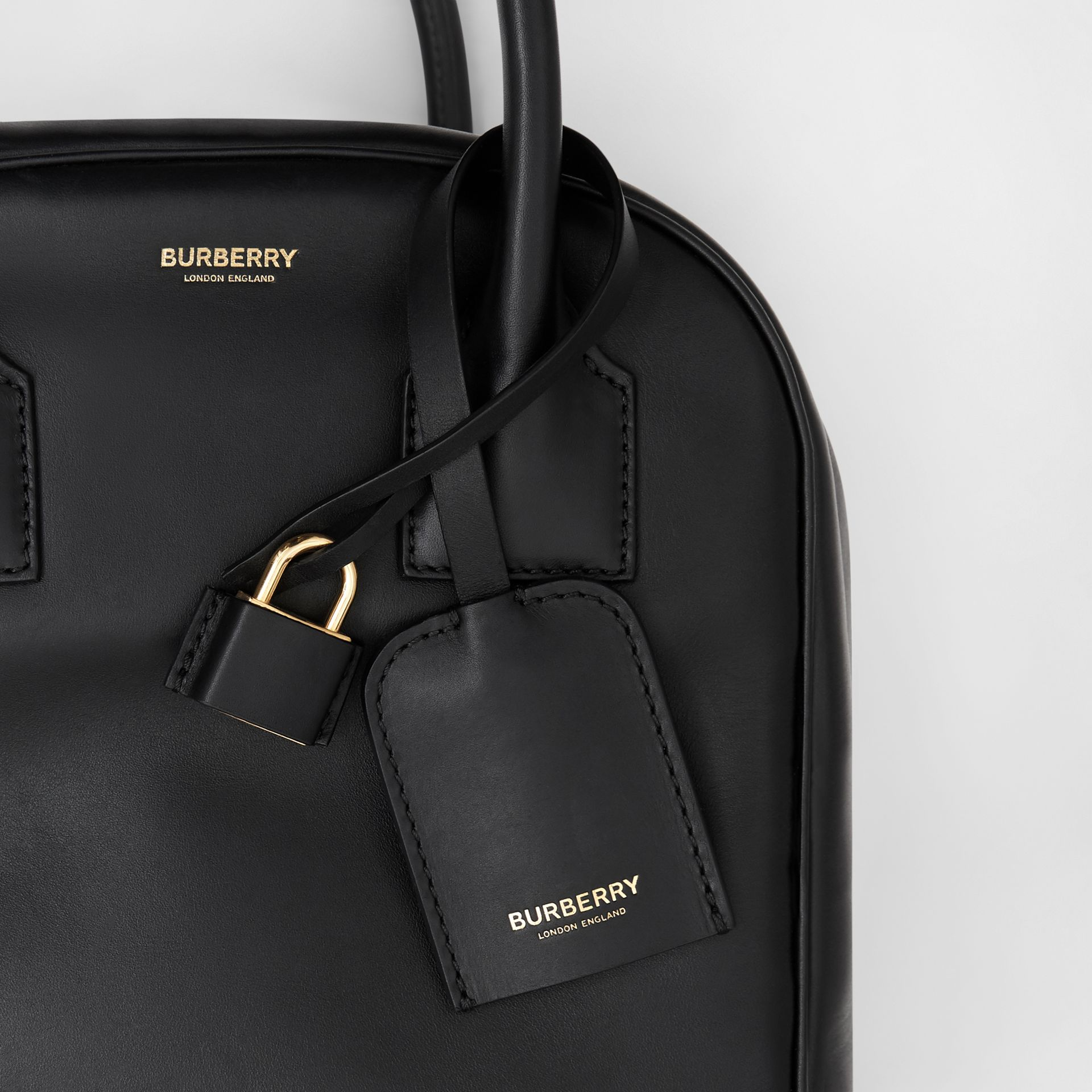 Small Leather Cube Bag in Black - Women | Burberry - gallery image 8