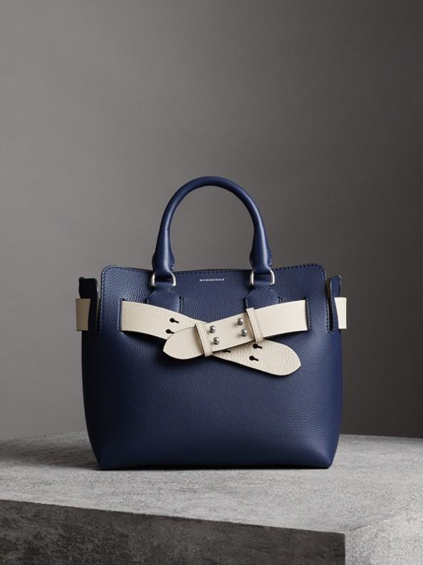 Bolsa Belt em couro - Pequena (Azul Regência)