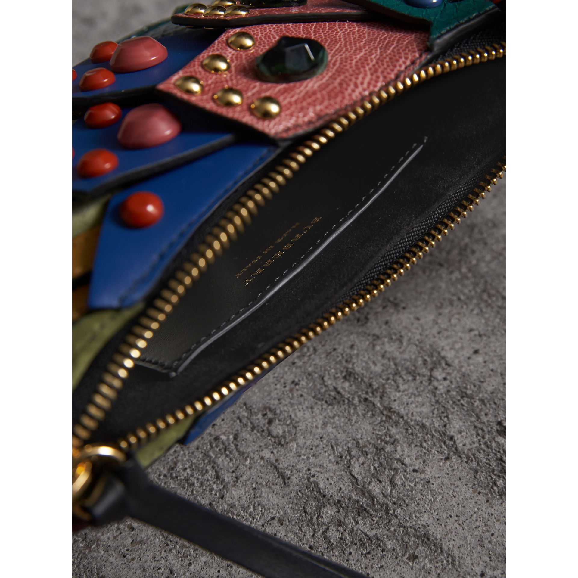 The Falcon – Snakeskin and Leather Crossbody Bag in Teal - Women   Burberry - gallery image 4